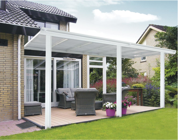 10 Foot Wide White Clear Polycarbonate Roofing Panel Patio Cover