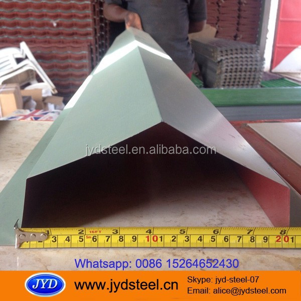 PPGI Color Coated Steel Valley Tray/ color coated metal gutter