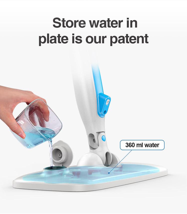 CONCEALED WATER TANK MICROFIBER MOP HEAD MAGIC SPRAY MOP FLOOR MOP