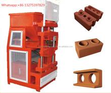 automatic clay brick production line HR2-10soil hollow interlocking block making machine low price brick clay brick in nigeria