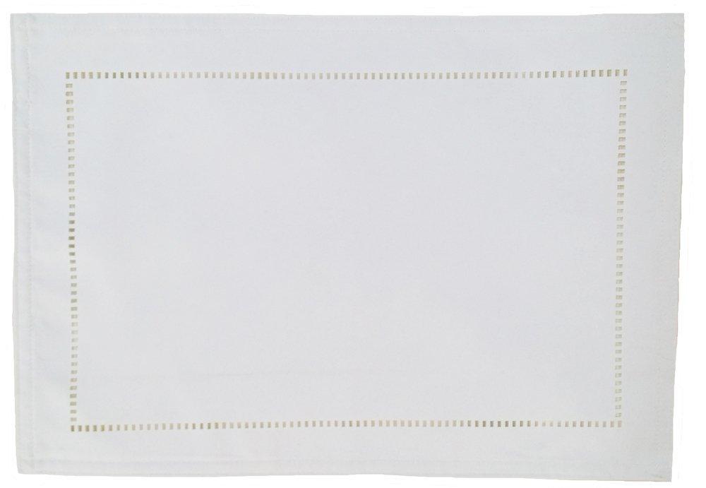 18 by 13-Inch Chevron Tan Monogrammed Letter M Kess InHouse KESS Original Placemat