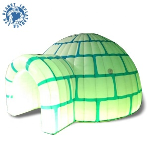 Customized Durable Mini Inflatable Snow Igloo Tent, Led Inflatable Dome Tent For Sale
