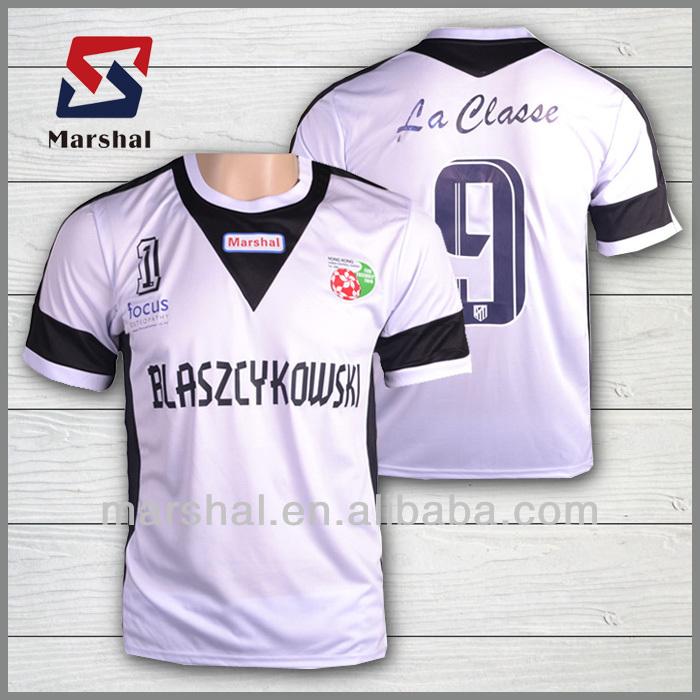 camiseta de fútbol de diseño personalizado de poliester ester de venta  caliente 9110617299a10