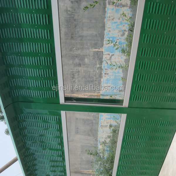 good quality green highway sound barrier plastic panel wall