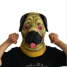 100% Naturel réaliste latex masque carlin chien masque <span class=keywords><strong>papier</strong></span> masque d'animal