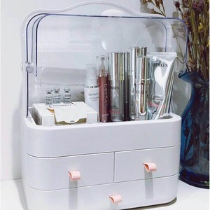 Cosmetic storage box transparent dustproof skin care products dressing table desktop finishing box storage rack makeup box