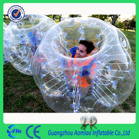 new style straps and handles human inflatable bumper bubble ball hamster ball for sale