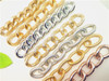 embossed gold chunky curb chain necklace metal curb chains gold chains