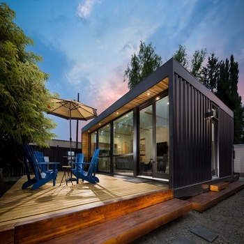 Easy quick assembly custom outdoor beautiful design luxury living glass villa tiny container prefab house
