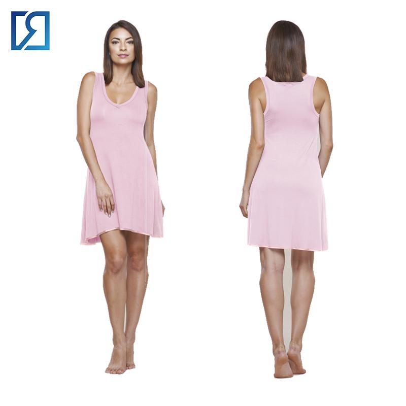 59a7e61a50 Womens Bamboo Viscose Sleeveless V Neck Nightgown - Buy Bamboo Viscose  Nightgown