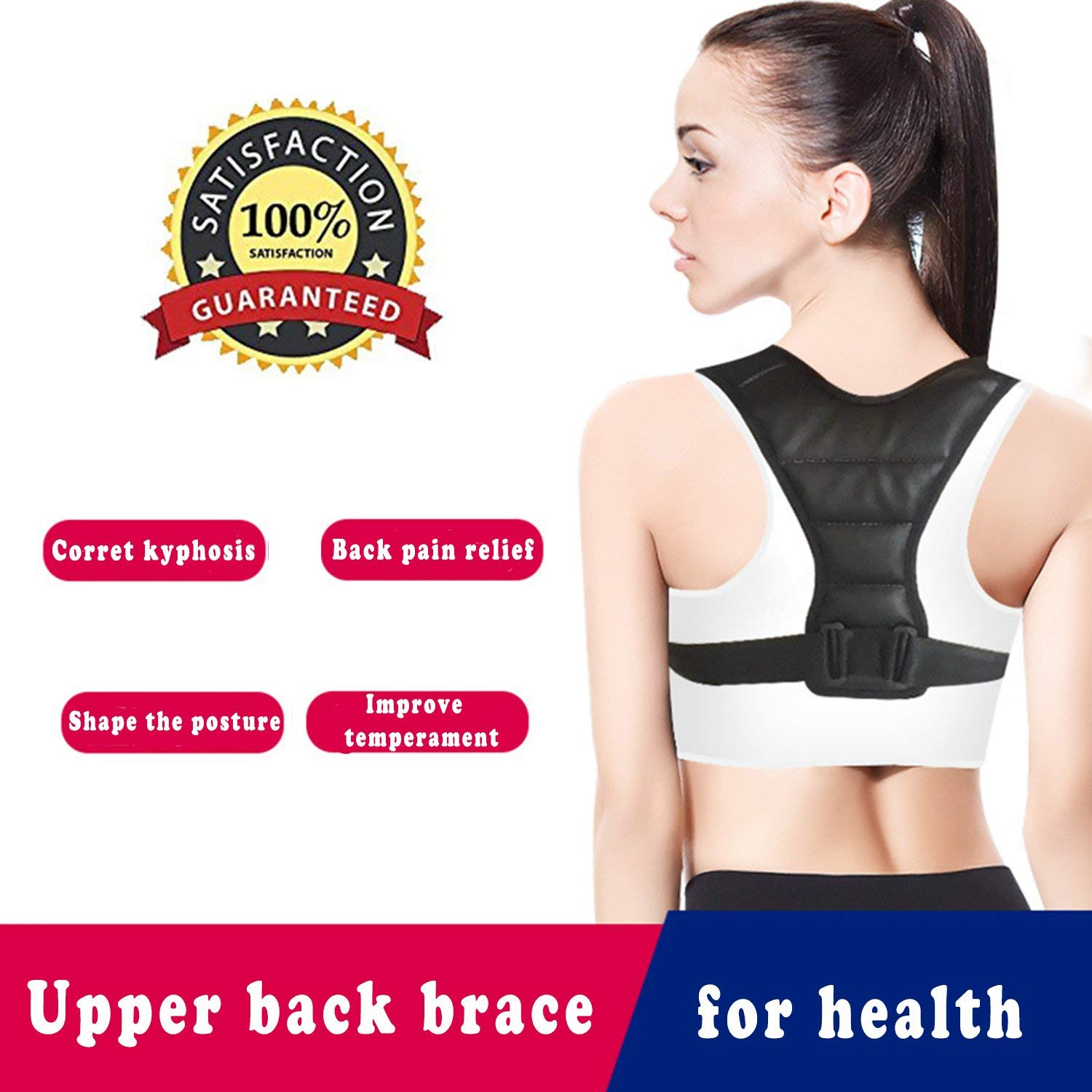 Upper Back Brace Support for Women&Men,The Kids Posture Corrector,Adjustable Breathable Clavicle Braces Strap for Slouching&Hunching -Shoulder Pain Relief,Improve Thoracic Kyphosis