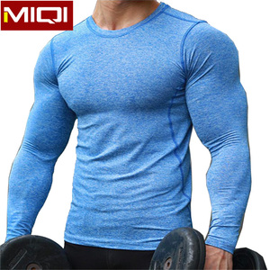 Wholesale Compression Men Long Sleeve Sports T Shirt Custom Logo Male Fitness Bodybuilding Clothing