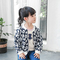MS74999B Casual style kids girls spring o neck cardigan