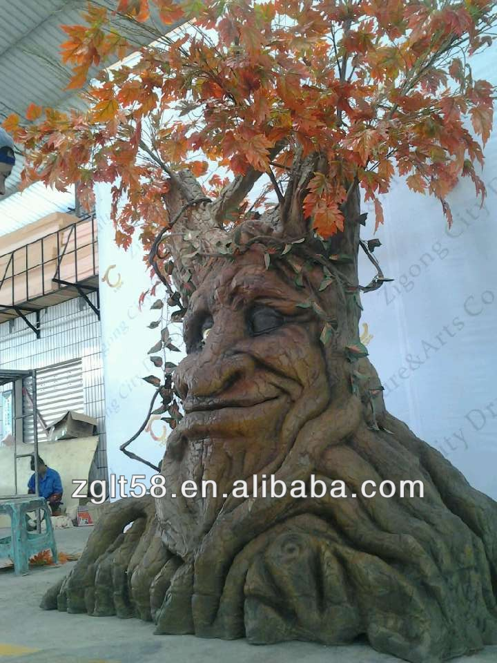 New Product! Amusement Park animatronic Talking Tree for Sale