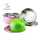 6pcs Africa Export Indian Cooking Pots Stainless Steel Stock Pot Set Pink Kitchenware Juego De Ollas Rosadas