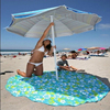 custom made microfiber large round beach towel