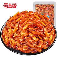 Shu Dao Xiang Wholesale Manufacturer 10g Bulk Buy From China OEM Product Spicy Snacks Dried Shrimp Snack