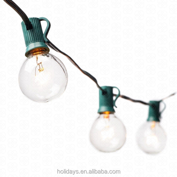 Ul Listed Green 25 Clear Bulbs Commercial Outdoor G40