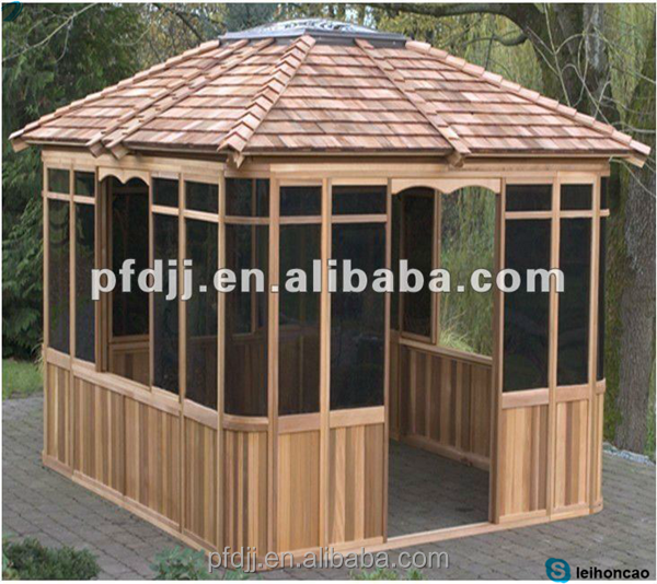 cool portable en plein air gazebo en bois kits belv d re. Black Bedroom Furniture Sets. Home Design Ideas