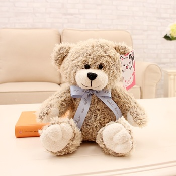 Custom logo soft brown cute cheap plush teddy bear 30cm professional manufacture