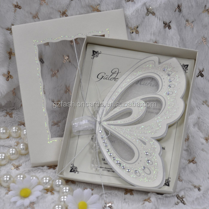 Hot sale! stock-in-trade Royal Butterfly Shape Wedding Invitations ...