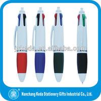 multi-colors colorful inks promotional 4 colors plastic pen