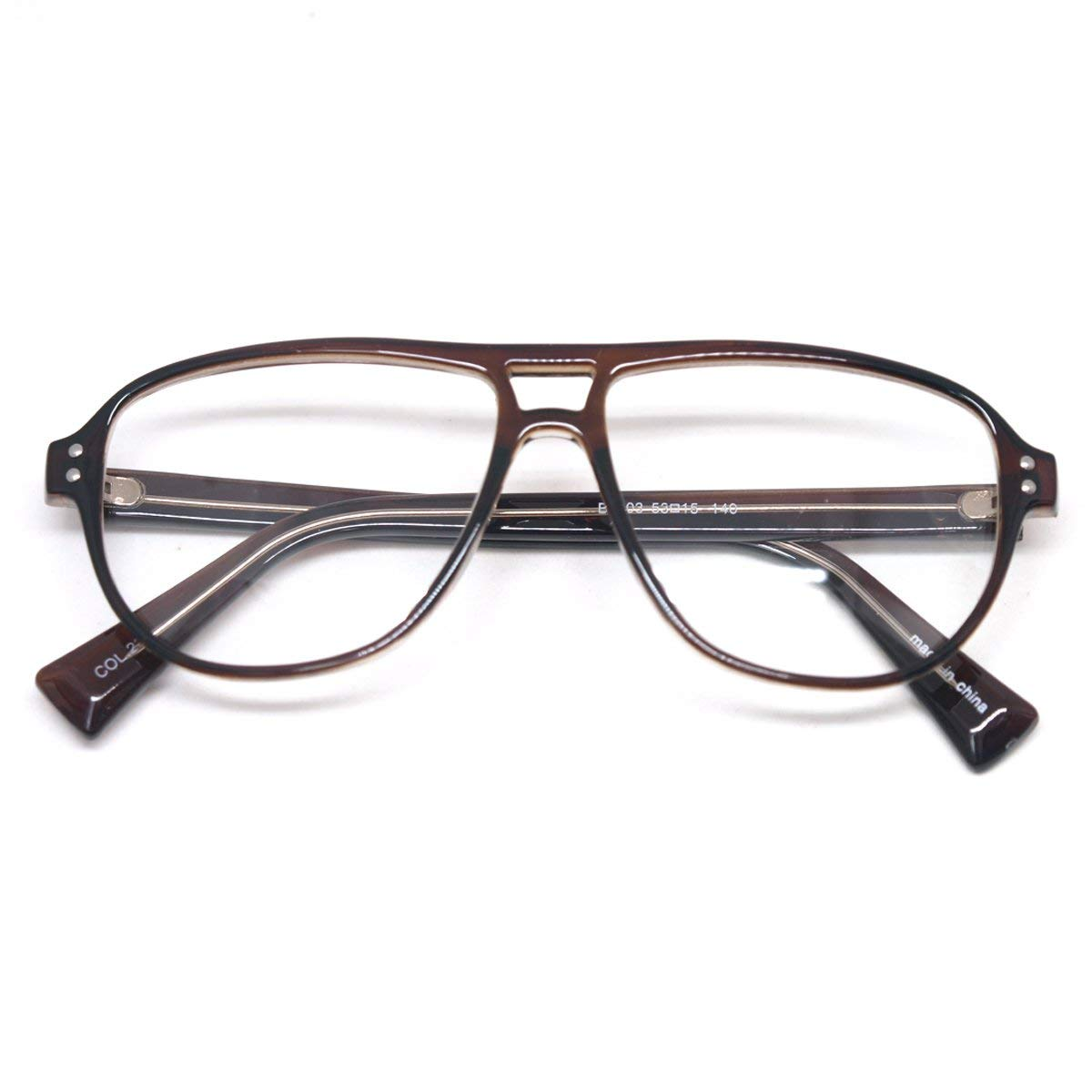 31384fe355a4 Get Quotations · Vintage Inspired Eyewear Geek Clear Lens Horn Rimmed  Fashion Nerd Eyeglasses