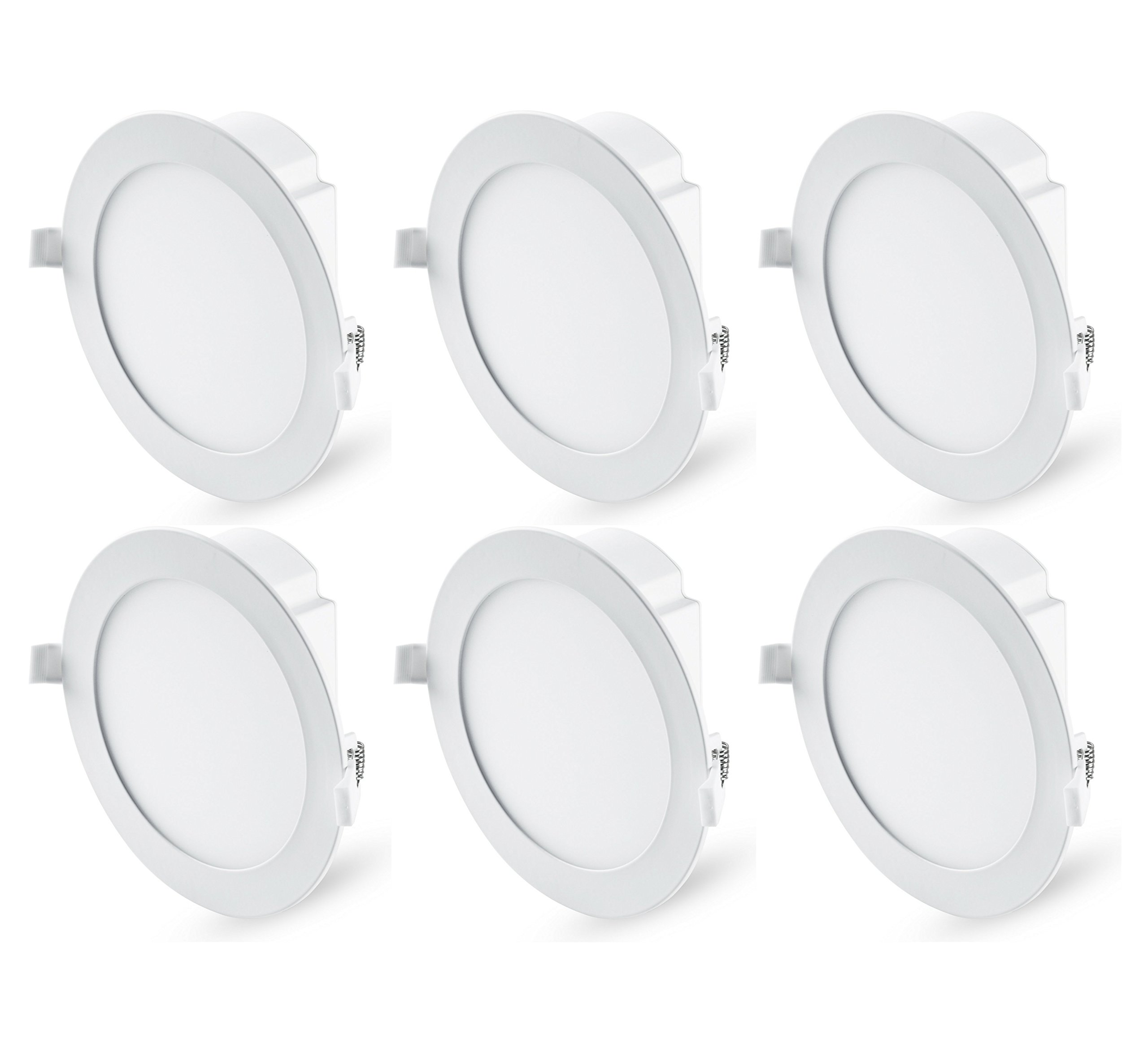 "Hyperikon 6"" Recessed LED Downlight with Junction Box, Dimmable, 11.6W (65W Equivalent), Slim Retrofit Airtight Downlight, 5000K (Crystal White Glow), ENERGY STAR, UL - For Dry/Damp Locations (6 Pack)"