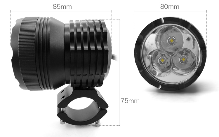 hot sales 12v  Universal Motorcycle LED bike light LED Headlight 30W waterproof motorcycle fog light