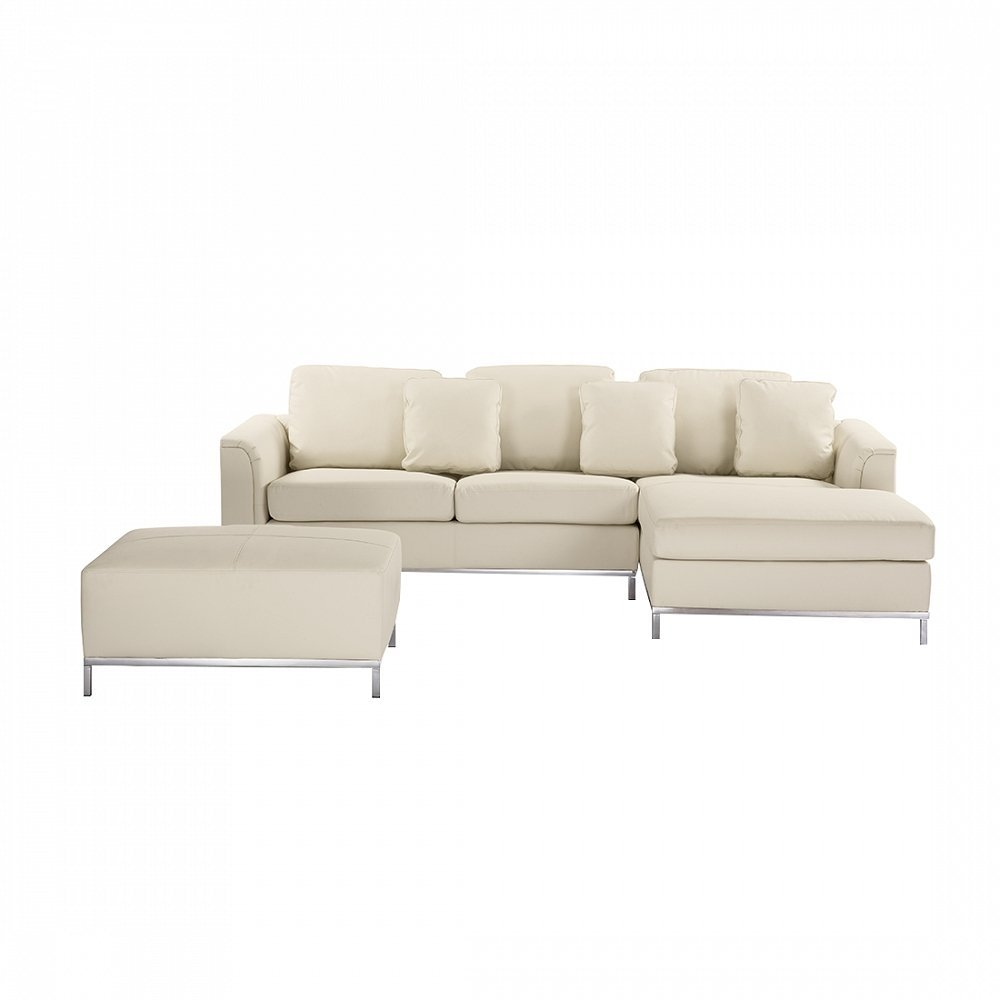 Pleasing Buy Beliani 7081451654366 Oslo Beige L Modern Sectional Sofa Gmtry Best Dining Table And Chair Ideas Images Gmtryco