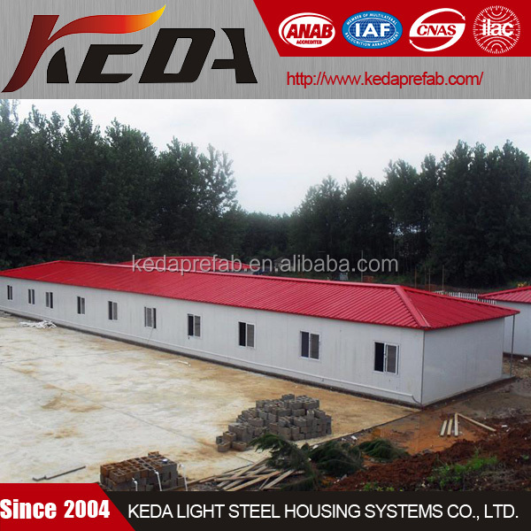 Light Steel Labour Accommodation Blocks For Construction Project Site