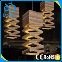 Dcloud Amazon Hot Sell Modern Wood Vintage Industrial Loft Pendant Light for Restaurant Bar Coffee
