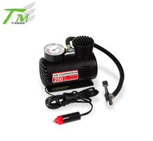Mini tire air pump 12V tire inflator gauge plastic car air compressor pump tyre