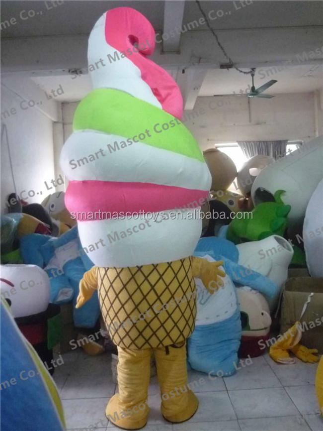 Adult Unisex Ice Cream Cone Costume One Size Fancy Dress
