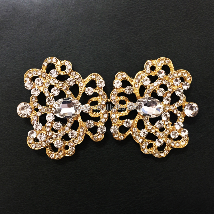 Vintage Gold Rhinestone Jewelry Crystal Closure Clasps Buckle For Wedding Invitation Card Buy Jewelry Crystal Closure Clasps Buckle Vintage Gold