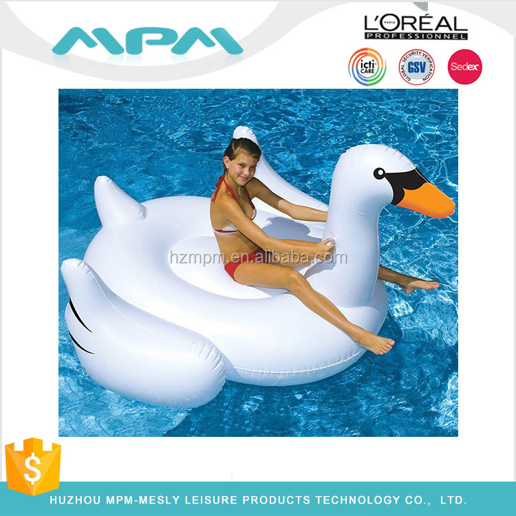 Wholesale summer water toy white Inflatable pool float inflatable animal floats