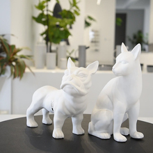 High quality matte white plain handicraft garden decoration animals ceramic home decoration ornaments
