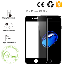 3D New Premium Carbon Fiber Soft Edge 9H Tempered Glass Screen Protector For iPhone 7 4.7 inch