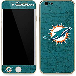 NFL Miami Dolphins iPhone 6/6s Skin - Miami Dolphins Distressed- Aqua Vinyl Decal Skin For Your iPhone 6/6s