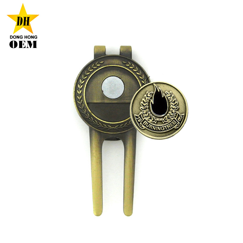 b17affff5dc Customized Divot Tool Ball Marker With Box Promotion Bulk Golf Gifts ...