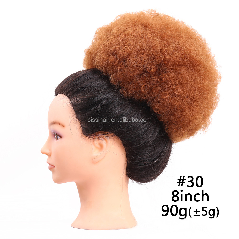 New style clip in on elastic net hair bun Chignon Ponytail Drawstring Hairpieces 4 kinds of colors available
