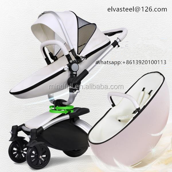 2016 new high end baby stroller folable stroller high landscape stroller suitable for winter