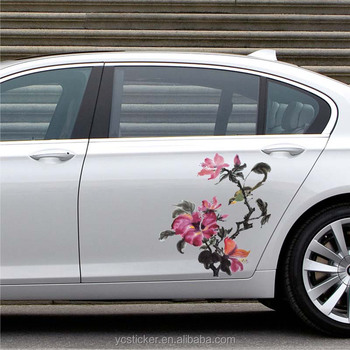 Unique Design Car Vinyl Flower Graphics Sticker Camouflage Car Body