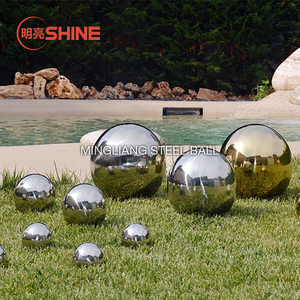 Cheap 10 12 18 inch Gazing Globe AISI304 Metal Big Mirror Stainless Steel Gazing Ball