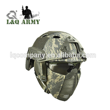 L&Q Bags NEW Tactical Fast Helmet Protect Ear Foldable Double Straps Half Face Mesh Mask Goggle