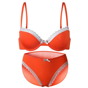 4caef35d0a86 Fashionable good quality women style sexy designer ice silk fabric bra and panty  set