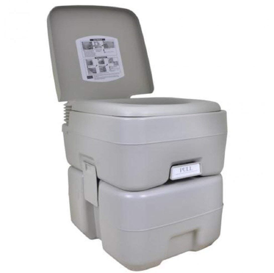 Get Quotations · New 5 Gallon 20L Portable Toilet Flush Travel Outdoor  Camping Hiking Toilet