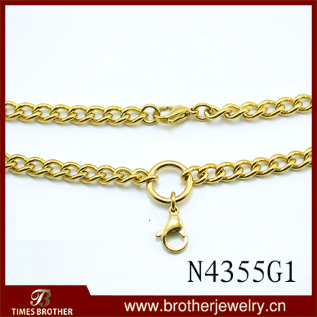 men gift stamp link with necklaces male real italian in chain gold silver item color wholesale from rose chains black necklace new jewelry trendy plated