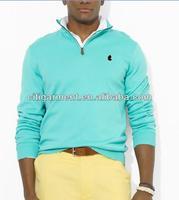 Men's Pima Cotton Half-Zip Sweater