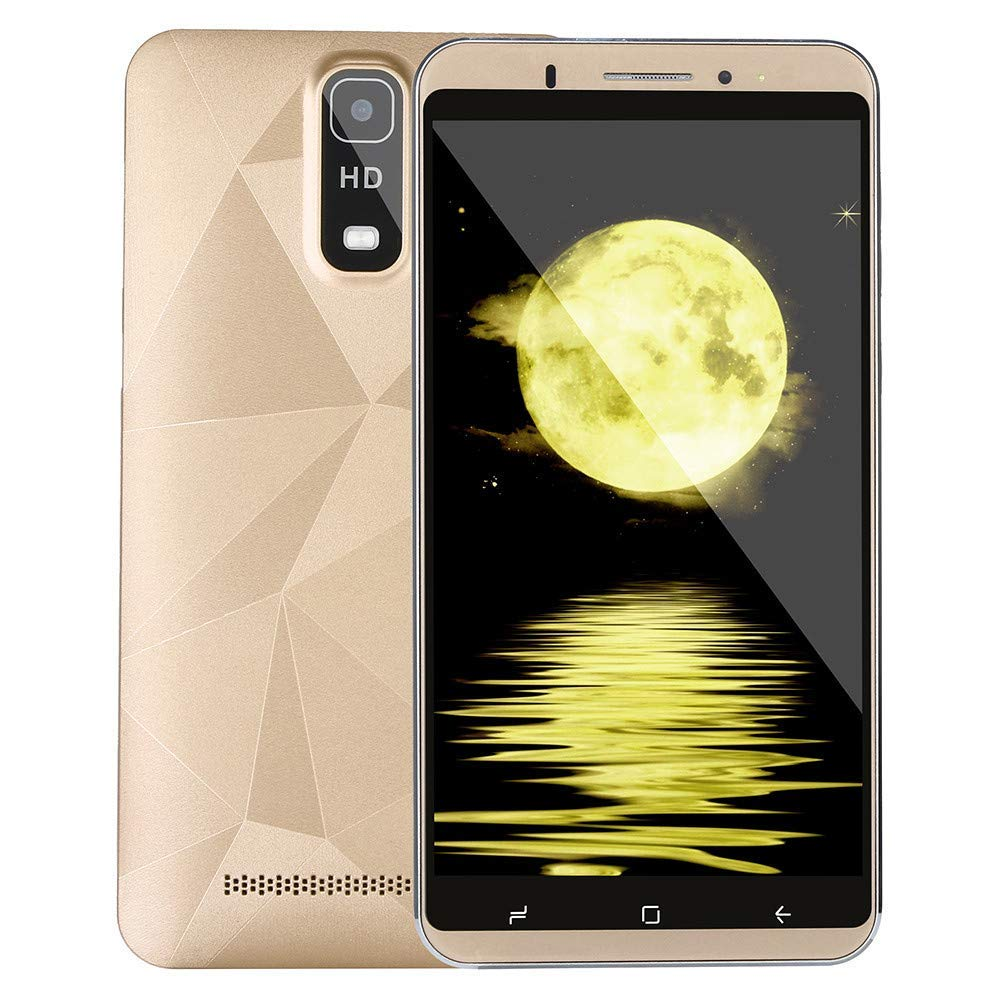 Dual Camera Smartphone 6.0 inch Android IPS Full Screen GSM/WCDMA 1+8G Touch Screen WiFi Bluetooth GPS 3G Call Mobile Phone (Gold)